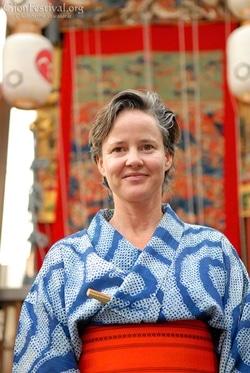 catherine pawasarat shibori kimono gion festival tokyo japan