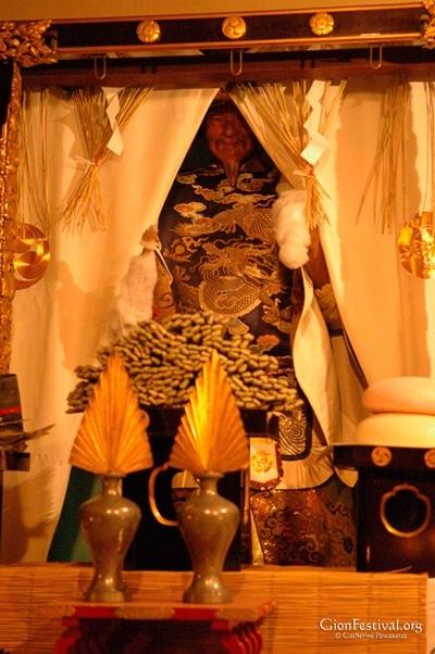 mousou yama deity statue shrine offerings gion festival kyoto japan