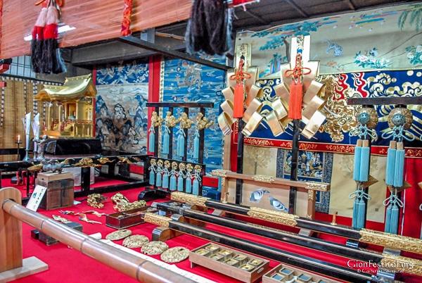 hachiman yama treasure display overview gion festival kyoto japan