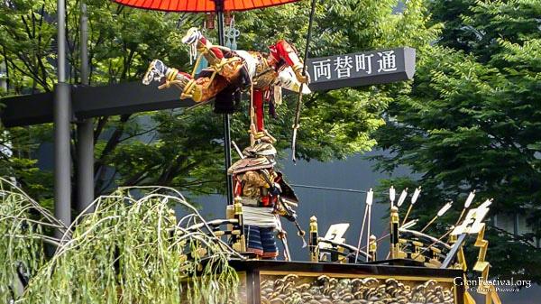 jomyo yama sacred statues gion festival procession kyoto japan