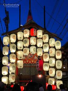 Minami Kannon Yama lit up at night