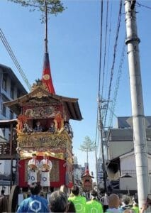 A Gion Festival float ready for the procession.